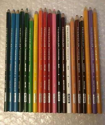 Prismacolor Premier 20 Colored Pencil Crayons Soft Core Modern Preowned Set