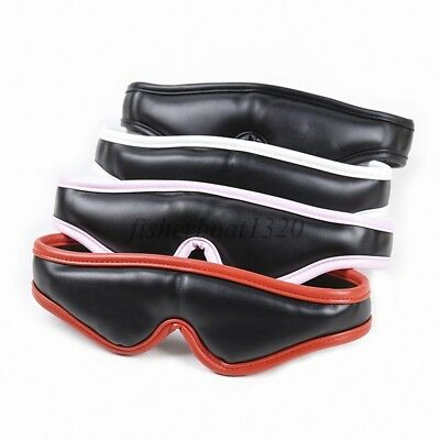 Sexy Eye Mask Masquerade Faux Leather Restraint Blinder Blindfold Cover Fancy