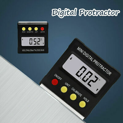 UK Mini Inclinometer Angle Meter Digital LCD Protractor Electronic Level Box NEW