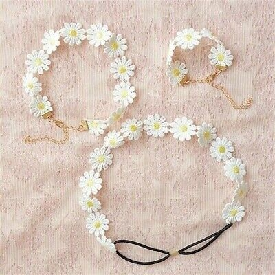 15 Yards Daisy Flowers Trim Lace Ribbon Embroidery Crafts Sewing Trimmings