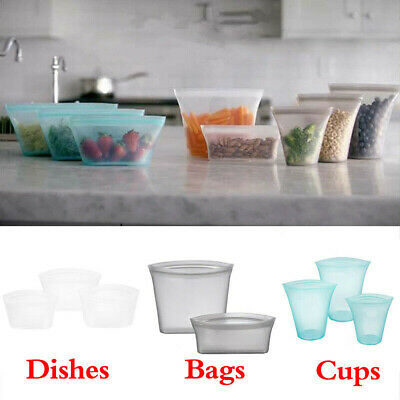 Zip Lock Leakproof Food Preservation Containers Cup Dishes Bags Kitchen Supplies