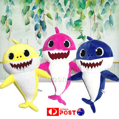 AU Cute Baby Toy Soft Shark Plush Toys Doll Toy Funny Time For Newborn Baby Gift