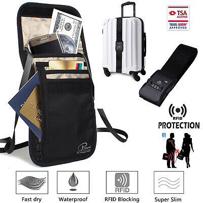 Superior Strength NON-SLIP TSA Lock Luggage Strap Passport Holder Family Travel