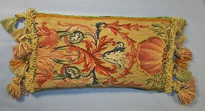 Aubusson Tapestry Pillow With Tassels