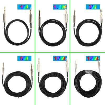 6.35mm Gold-plated Conductor + Aluminum Stereo Audio Cable Straight To Straight