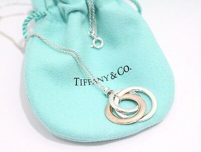 Tiffany & Co. Sterling Silver / Metal 1837 interlocking Circles Pendent Necklace
