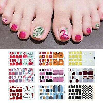 QUALITY TOE NAIL Stickers Foil Wrap Toenail Decals Vinyl Nail Art ...