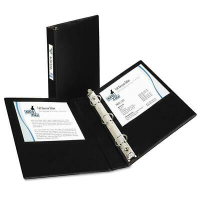 """27257 Mini Durable Binder with Round Rings, 5 1/2 x 8 1/2, 1"""" 1"""", Black"""