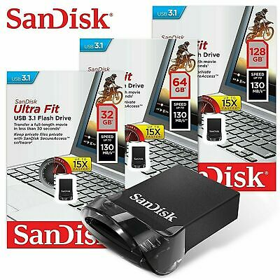 SanDisk Ultra Fit USB 32GB 64GB 128GB 3.0 Flash Drive Memory Stick 130MB/s Read
