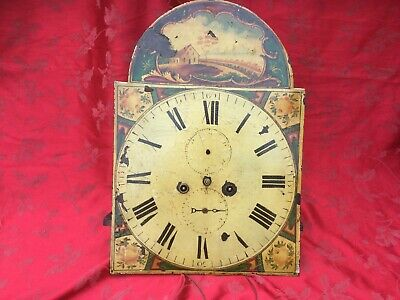 Victorian Painted Dial Grandfather Longcase  Clock Movement