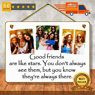 PERSONALISED FRIENDSHIP GIFT for BEST FRIEND photo plaque sign custom quote text