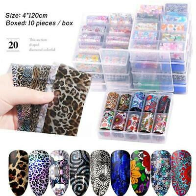 4*100 cm Transfer Foil Holographic Clear Nail Art Glitter Stickers 3D Nails Gift