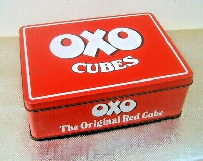 Vintage Red Oxo Cube Tin  48 Cubes. 285g 10oz.