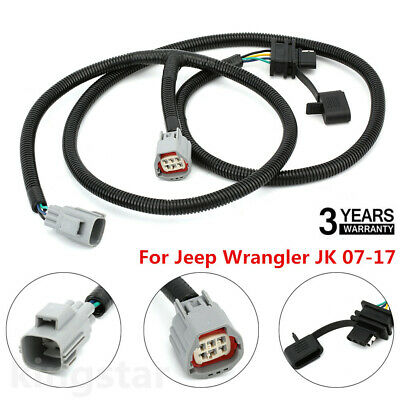 07-16 jeep wrangler jk trailer tow hitch receiver / 4 way wiring kit on