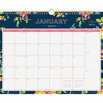 Day Designer for Blue Sky 2018 Monthly Wall Calendar, Twin-Wire Binding, 15 x...