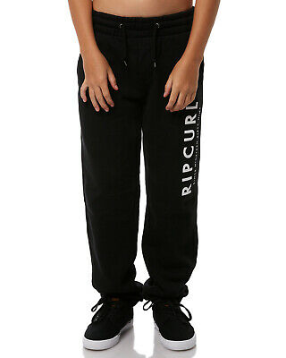 Rip curl Boys Youth Transfer Track Pants Fleece Tracksuit Jogging Black 10-16