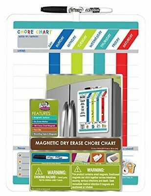 Board Dudes Magnetic Dry Erase Rewards Chore Chart with Marker and Magnets (D...