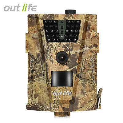 Outlife 12MP 1080P HD Wildlife Trail Camera Video Hunting Game Wild Night Vision