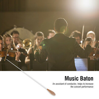 15inch Conductors Baton W/ Pear Shaped Rubber Handle Musical Baton Accessories