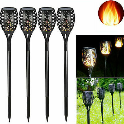 1/2/4X LED Solar Flickering landscape Lamp Dancing Flame Torch Yard Garden Light