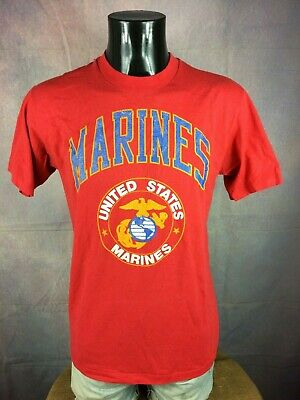 UNITED STATES MARINES T Shirt Corps USA Armed Force Army Air Forces War Vintage