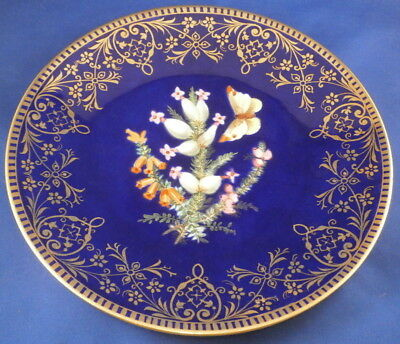 Antique Mid 19thC English Porcelain Floral Plate Porzellan Teller England