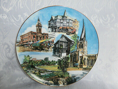 Chesterfield Co-Operative Society Centenary Plate Crooked Spire Markets Scenes