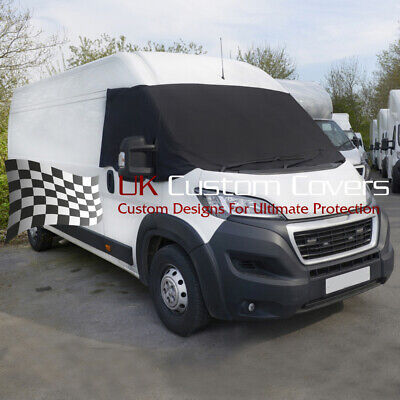 Peugeot Boxer Motorhome 2006+ Windscreen Screen Frost Wrap Cover 373 Black