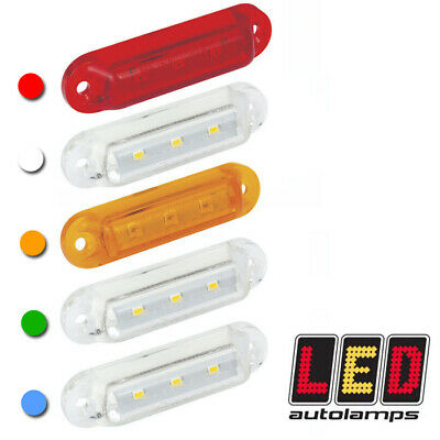 LED AUTOLAMPS Compact 12v or 24v Side Rear Front Marker Lights RED AMBER WHITE