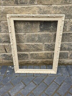 Large Ornate Shabby Chic Vintage Picture Frame Wedding Gold/Cream