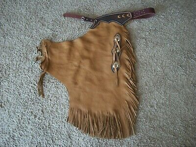 Custom Made Western Chinks Leather /  NEW    Chaps