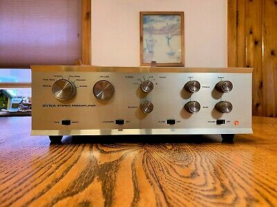 Dynaco PAS 3 Stereo TUBE Preamp w/phono New 12AX7 tubes Tested 19-6