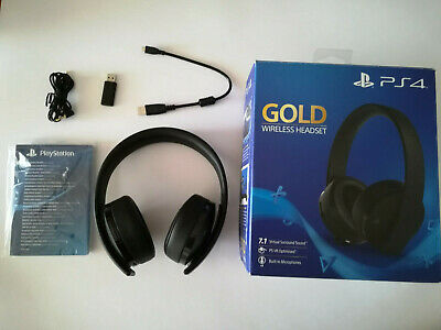 Cuffie Sony PS4 PlayStation 4 Gold Wireless Headset