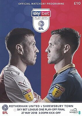 ROTHERHAM UNITED v SHREWSBURY TOWN LEAGUE ONE PLAY-OFF FINAL 2018