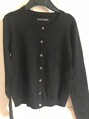 BNWOT Essential Next Cardigan. Girls. Black. Age 10 - 15 Years. Soft Touch.