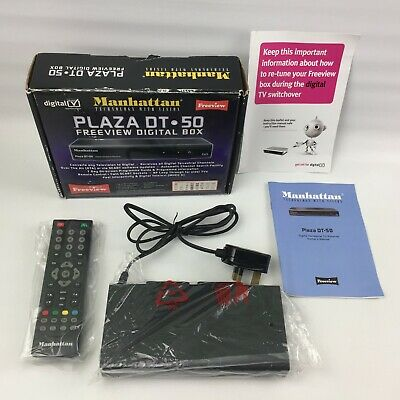 Manhattan Plaza DT-50 Freeview Digital TV Box, Boxed with remote control DVB-T