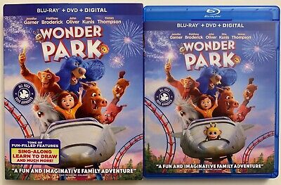 Wonder Park Blu Ray Dvd 2 Disc Set + Slipcover Sleeve Free World Wide Shipping