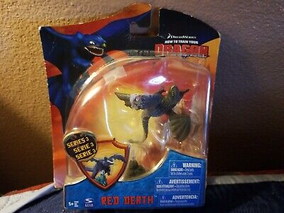 HOW TO TRAIN YOUR DRAGON SPIN MASTER RED DEATH RARE  HTTYD Series 3
