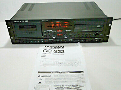 Tascam TEAC CC-222 CD Recorder / Cassette Deck - Good Working Condition