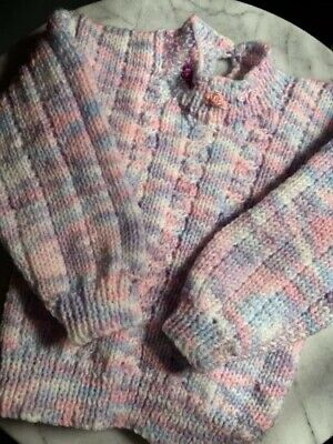 Hand Knit Baby Jumper. Brand New. Very Cosy. Age O To 1