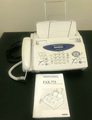 Brother Intellifax 775 Plain Paper Fax with Phone & Copier - Manual - Tested