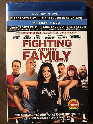 NEW Fighting With My Family Blu-Ray & DVD w Slipcover Canada Bilingual SEALED