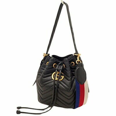7296887fb GUCCI GG Marmont Heart purse 2WAY bucket type tote quilted fittings 476674  (11