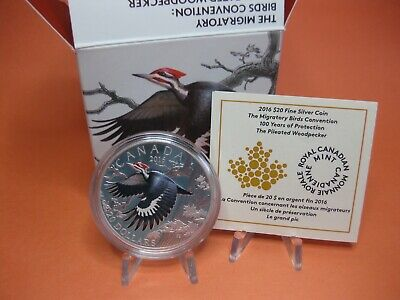 2016 $20 Fine Silver Coin - The Pileated Woodpecker