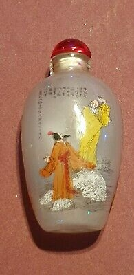 Estate Found Antique Rare Chinese Collectibles Reverse Painted Snuff Bottle!!!
