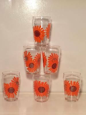 Vintage Dominion daisy juice glasses  Made in Canada