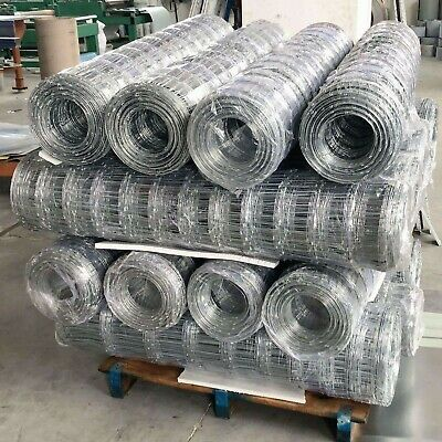 50M Galvanised Wire Mesh Hinge Joint Garden Animal Fence Farm Steel Mesh Fencing