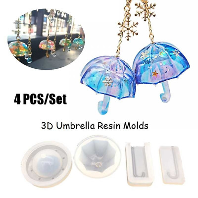 3D Umbrella Shape Resin Mold Silicone Mold Epoxy Mold DIY Jewelry Making Mold