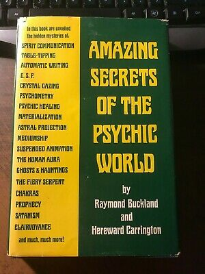 Amazing Secrets of the Psychic World by Raymond Buckland 1st HCDJ 1975