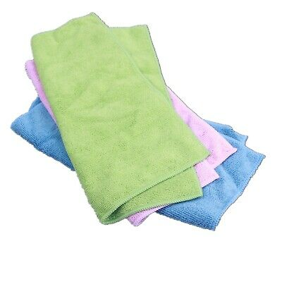 6 Pcs 30x30cm Branded Microfiber Cleaning Floor Cloth Auto Car Wash Wiper Towel